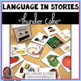 Thunder Cake Language Activities Speech Language