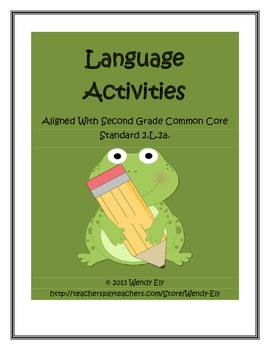 Language Activities--Aligned with Common Core 2.L.2a