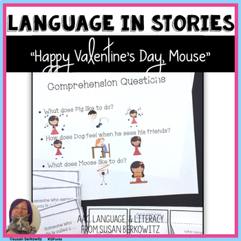 Language Activities for Happy Valentine's Day, Mouse for Speech Therapy