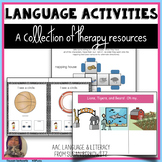 Language Activities for Speech Therapy and Special Education