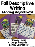 Language, Adjectives- Fall Writing Crafts (House, Pumpkin,