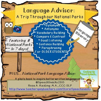 Language Advisor: Our National Parks {Language Development}