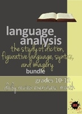Language Analysis Bundle: Diction, Figurative Language, Imagery, Syntax