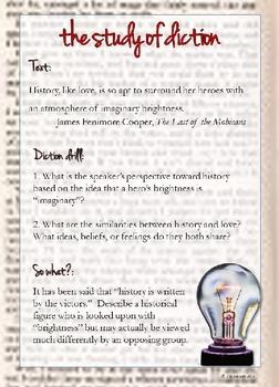 Language Analysis Bundle: Diction, Figurative Language, Imagery, Syntax