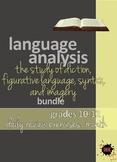Language Analysis Bundle: Diction, Figurative Language, Im