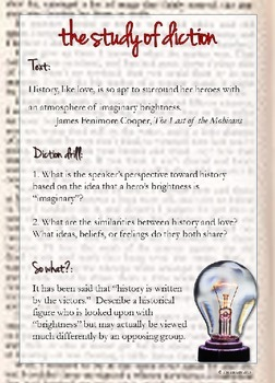 Language Analysis: Diction Powerpoint Daily Review Exercises: weekly