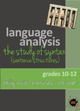 Language Analysis: Syntax Powerpoint Daily Review Exercises: weekly