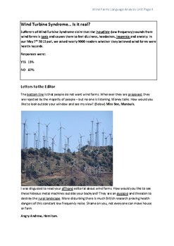 Language Analysis Task Wind Farms