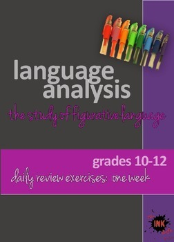 Language Analysis: Figurative Language Powerpoint Daily Review Exercises: weekly