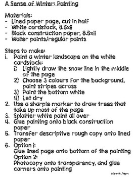 Language, Art- Descriptive, Winter Landscape