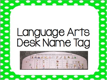 Language Art Name Tag/  Desk Tag
