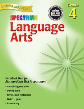 Spectrum Language Arts Grade 4 SALE 20% OFF! 0769653049
