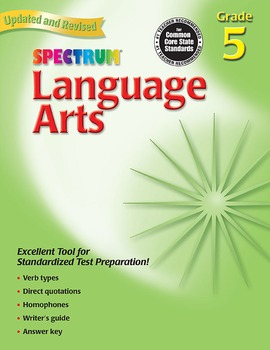 Spectrum Language Arts Grade 5 SALE 20% OFF! 0769653057