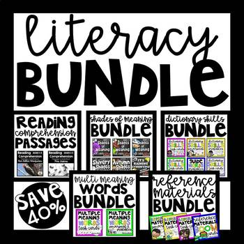 Language Arts Bundle for Third, Fourth, and Fifth Graders