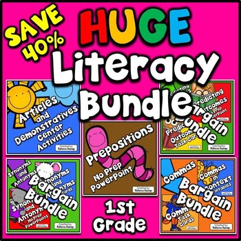 Language Arts HUGE $$$ Savings BUNDLE for FIRST GRADE