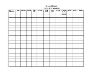 Language Arts -2 Checklist