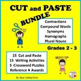 Cut and Paste BUNDLE ... Language Skills | Writing | ACTIVITIES | Gr 2-3 CORE