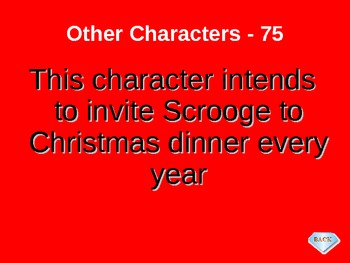 Language Arts A Christmas Carol Jeopardy Game
