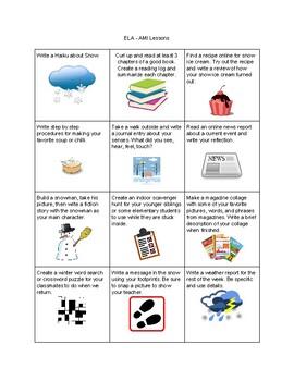 Language Arts - AMI Lesson Board
