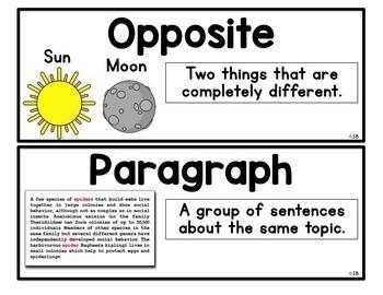 Vocabulary Word Wall Bundle