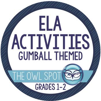 Language Arts Activities - Gumball Themed