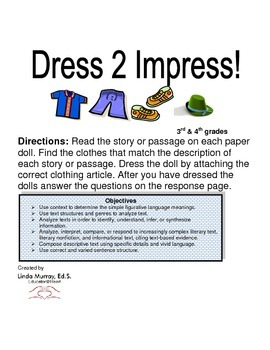 Language Arts Activity: Dress 2 Impress!
