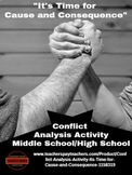 """Conflict Analysis Activity - """"It's Time for Cause and Cons"""