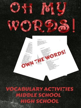 Vocabulary Activities - Oh My WORDs!