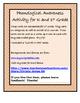 PHONOLOGICAL AWARENESS - First Grade (Beginning Sound Activity)