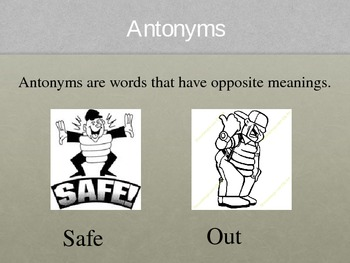 Language Arts   -  Antonym Power Point Presentation