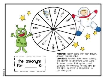 Language Arts - Antonyms (Astronauts & Aliens)