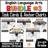 Language Arts Task Card and Anchor Chart MEGA BUNDLE for 3