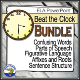 Language Arts Beat the Clock PowerPoint Game BUNDLE