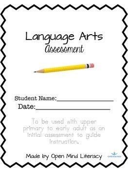 Language Arts Assessment/Reading Test (Common Core Aligned)