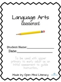 Language Arts Assessment/Reading Test (Common Core Aligned)