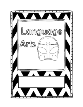 Language Arts Binder Cover