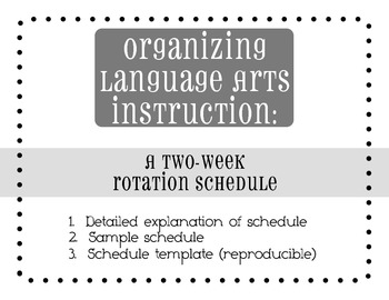 Language Arts Block Planning Template