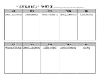 block planning template