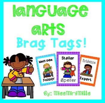 Language Arts Brag Tags