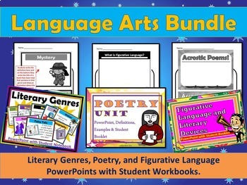 Language Arts Bundle with PowerPoints and Student Workbooks