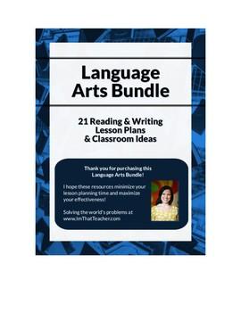 Language Arts Bundle: 21 Reading & Writing Lesson Plans and Classroom Ideas