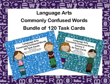 Language Arts Bundle-Commonly Confused  Words-Grades 3-4-120 Task Cards