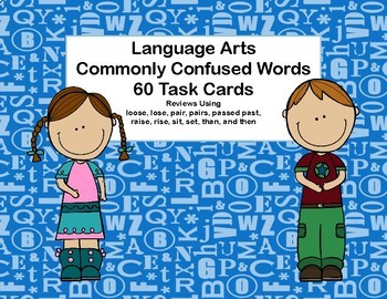 Commonly Confused Words-Language Arts Bundle-Grades 3-4-120 Task Cards
