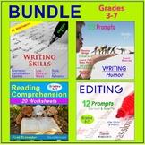 LANGUAGE ARTS BUNDLE | Writing, Editing, Reading Comprehension (Gr. 3-7)
