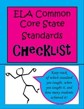 Language Arts CCSS Checklist