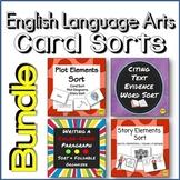 Text Evidence, Paragraphs, Plot & Story Elements Vocabulary Sort Bundle