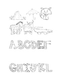 Reading Language Arts Center: Uppercase Alphabet & Animal