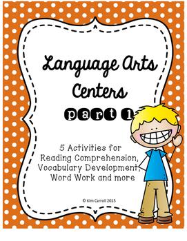 Language Arts Centers: Bundle of 5 Common Core Aligned Centers