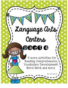 Language Arts Centers Part 4: Common Core Aligned Centers