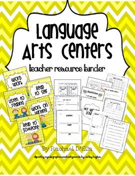 Language Arts Centers Resource Binder {Assessments, Organi